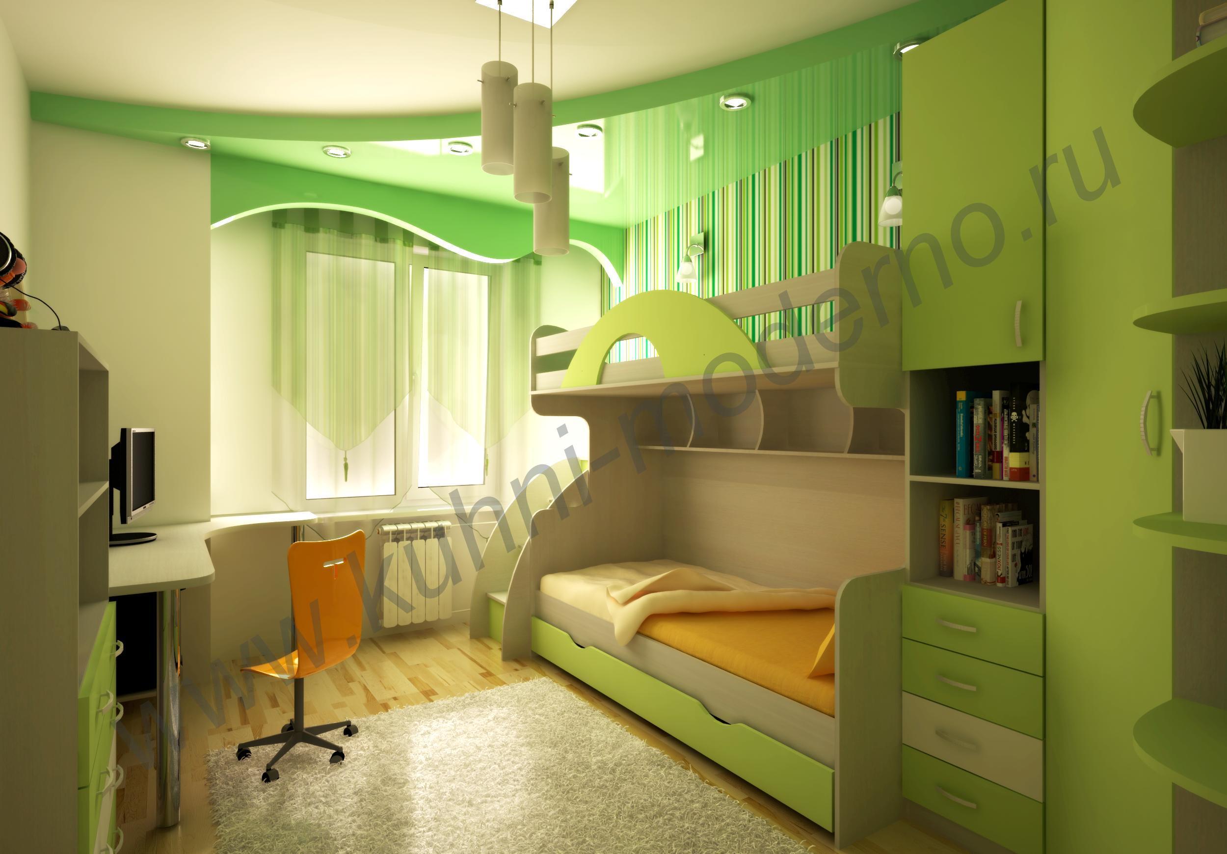 Детская комната для двоих детей, дизайн интерьера, как оформ.