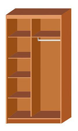 Варианты наполнения шкафов.